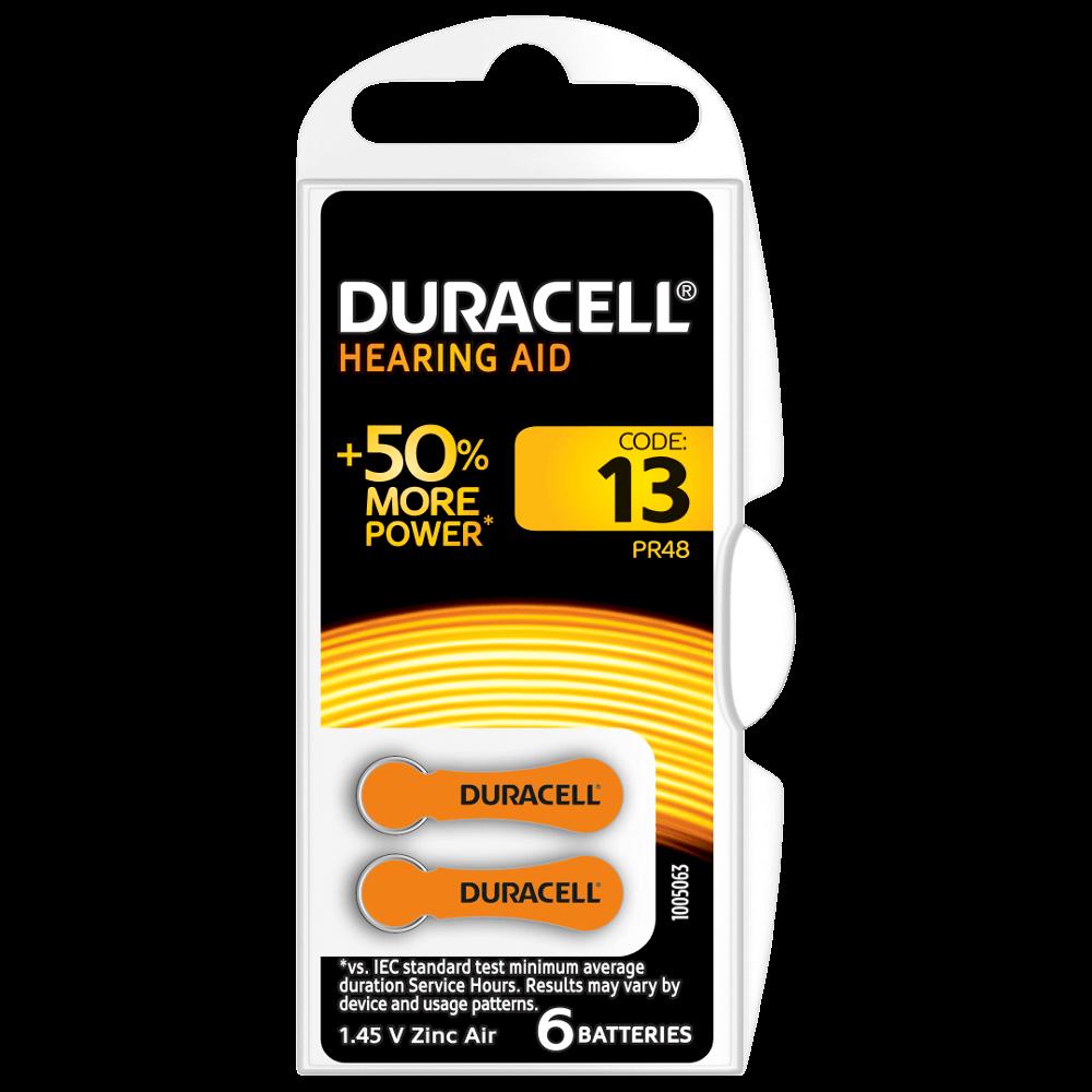 pillha para aparelho auditivo duracell 13